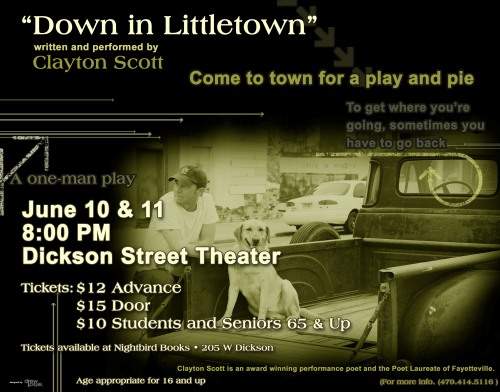 Fayetteville 's Poet Laureate, Clayton Scott, premiers his one-man play