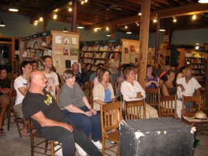 A rapt audience at Nightbird Books on 31 August 2010