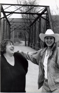 Brenda Moossy and Lisa Martinovic (right) back in the day